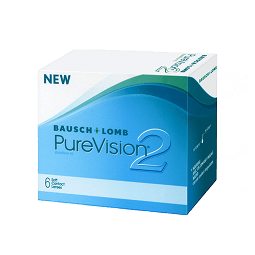 Контактни лещи за очи с диоптър PureVision2 (6 лещи) на Bausch&Lomb