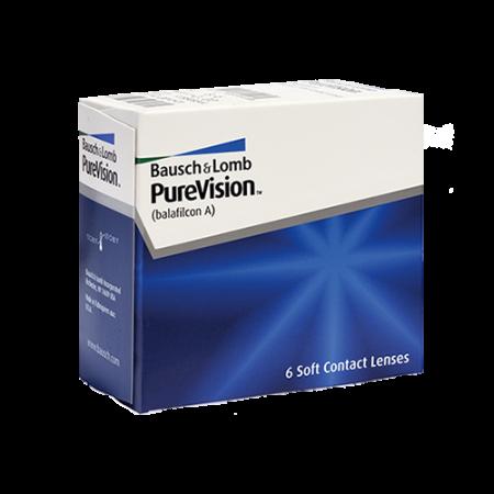 Контактни лещи за очи с диоптър PureVision (6 лещи) на Bausch&Lomb