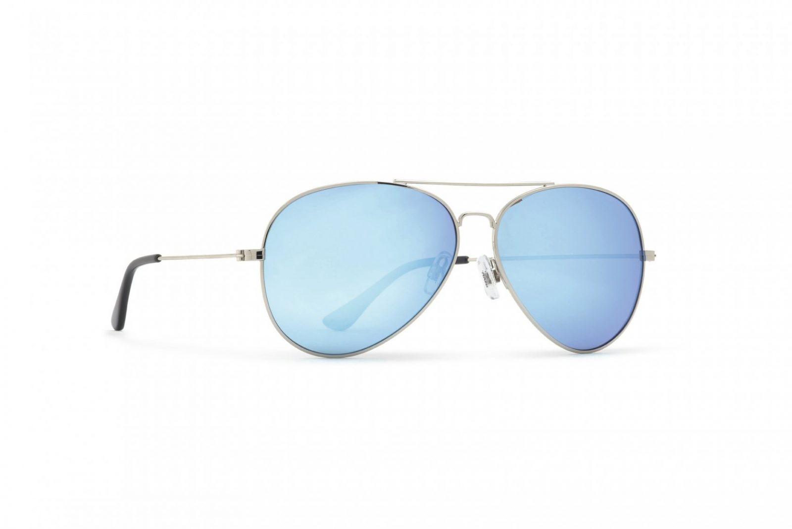 INVU Мъжки слънчеви очила с поляризация B1411E - Сива рамка и огледални сини стъкла