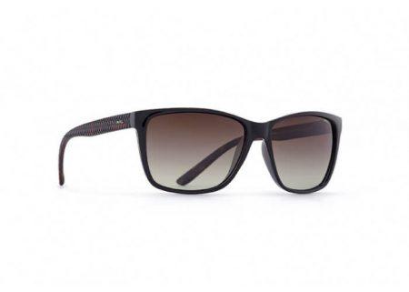 INVU Дамски слънчеви очила с поляризация B2504A - Черна рамка и кафеви градиент стъкла