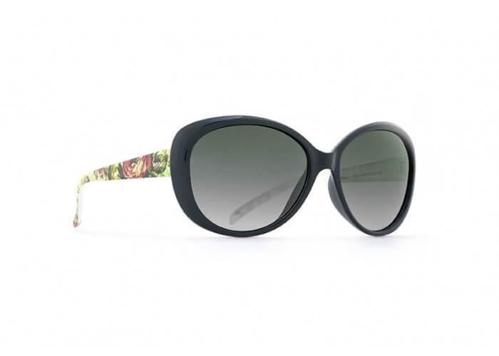 INVU Дамски слънчеви очила с поляризация B2514C - Черна рамка и зелени градиент стъкла
