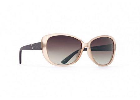 INVU Дамски слънчеви очила с поляризация B2515B и UV защита за очите - Жълтеникава рамка и кафеви градиент стъкла