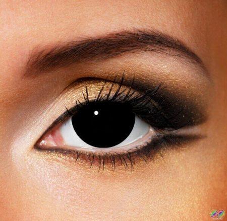 Мини склера черни лещи