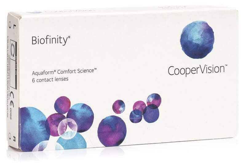 контактни лещи за очи Biofinity CooperVision