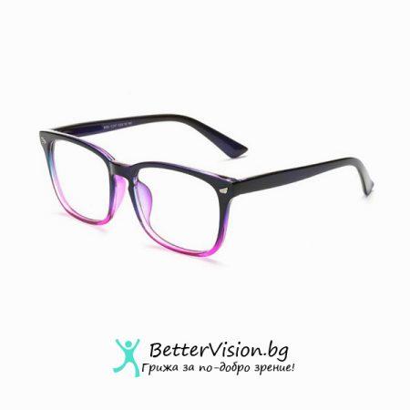 Дизайнерски Очила за компютър – Черно и лилаво