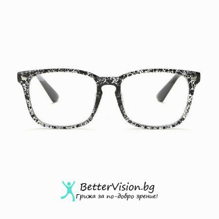 Дизайнерски Очила за компютър - Черен Флорал