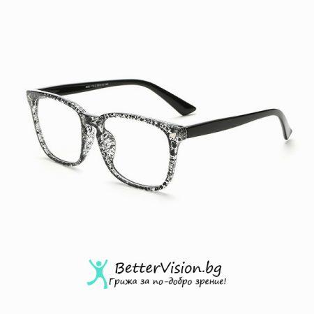 Черен Флорал - Дизайнерски Очила за компютър