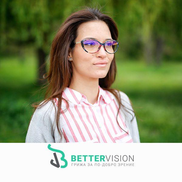 Очила за компютър котешко око - Флорални мотиви на лице