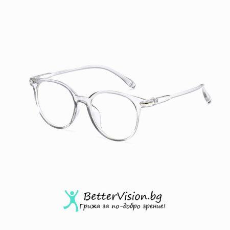 Дизайнерски Очила за компютър - Crystal White (Anti Blue Light)