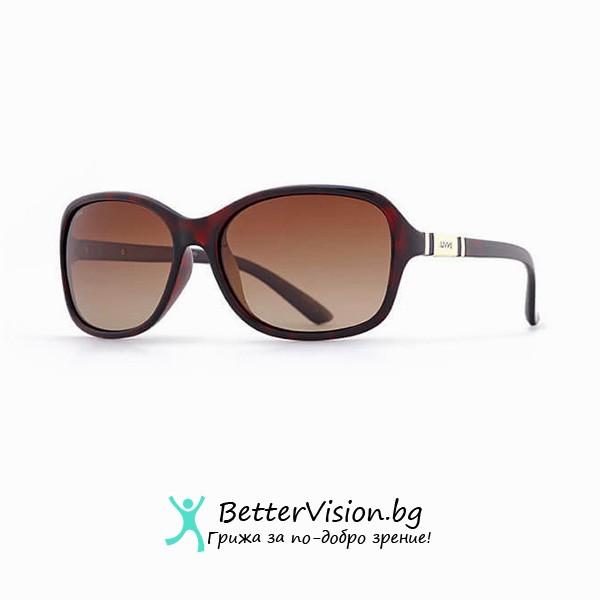 Кафява рамка и Кафеви градиент стъкла - INVU Дамски слънчеви очила с поляризация B2508B и UV защита за очите