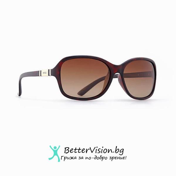 Кафява рамка и Кафеви градиент стъкла - INVU Дамски слънчеви очила с поляризация B2508B