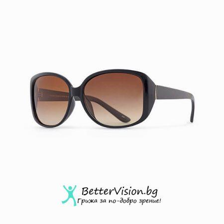 INVU Дамски слънчеви очила с поляризация B2511A – Черна рамка и кафеви градиент стъкла