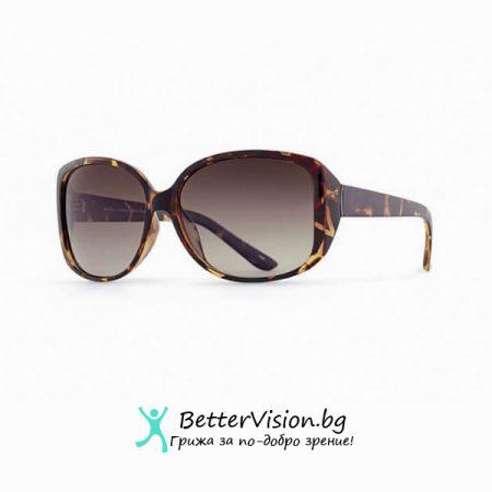 INVU Дамски слънчеви очила с поляризация B2511B - Рамка Деми и кафеви градиент стъкла