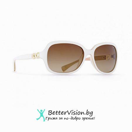Бяла рамка и кафеви градиент стъкла - INVU Дамски слънчеви очила с поляризация B2518C