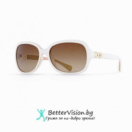 INVU Дамски слънчеви очила с поляризация B2518C - Бяла рамка и кафеви градиент стъкла