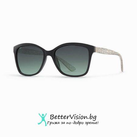INVU Дамски слънчеви очила с поляризация B2704A - Черна рамка и Зелени градиент стъкла