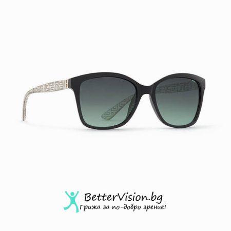 Черна рамка и Зелени градиент стъкла - INVU Дамски слънчеви очила с поляризация B2704A