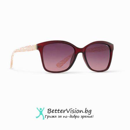 Червена рамка и Червени градиент стъкла - INVU Дамски слънчеви очила с поляризация B2704C