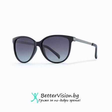 INVU Дамски слънчеви очила с поляризация B2706A и UV защита за очите - Черна рамка и Сини градиент стъкла