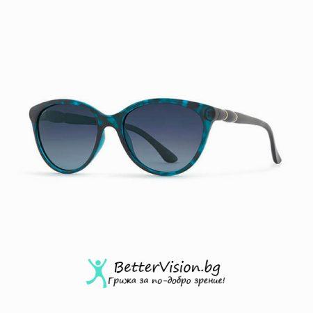 Синя рамка и Сини градиент стъкла - INVU Дамски слънчеви очила с поляризация B2737C