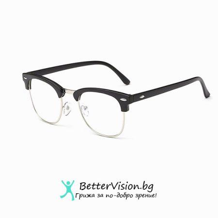 Очила за компютър Cycle – Черен мат и сребърно