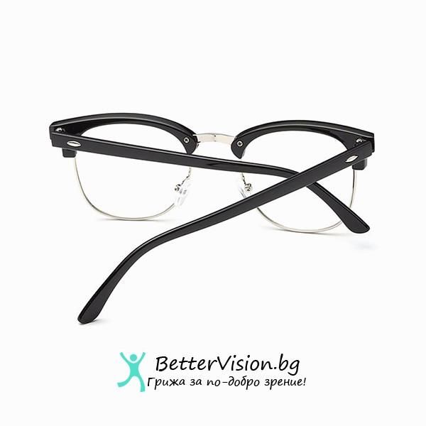 Черен мат и сребърно Очила за компютър
