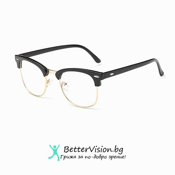 Очила за компютър – Черен гланц и златно