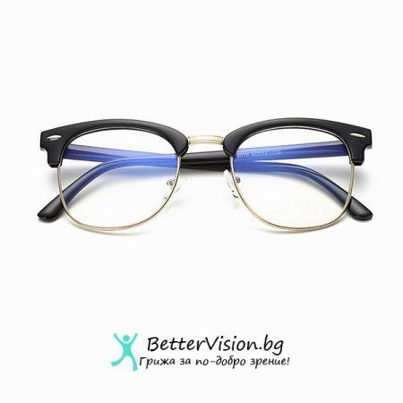 Очила за компютър Cycle – Черен гланц и златно
