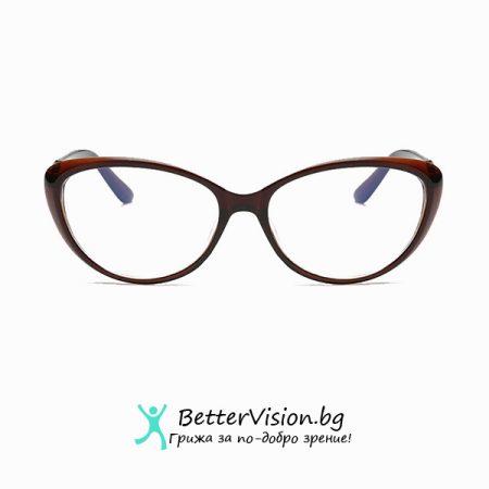 Кафеви Очила за компютър котешко око