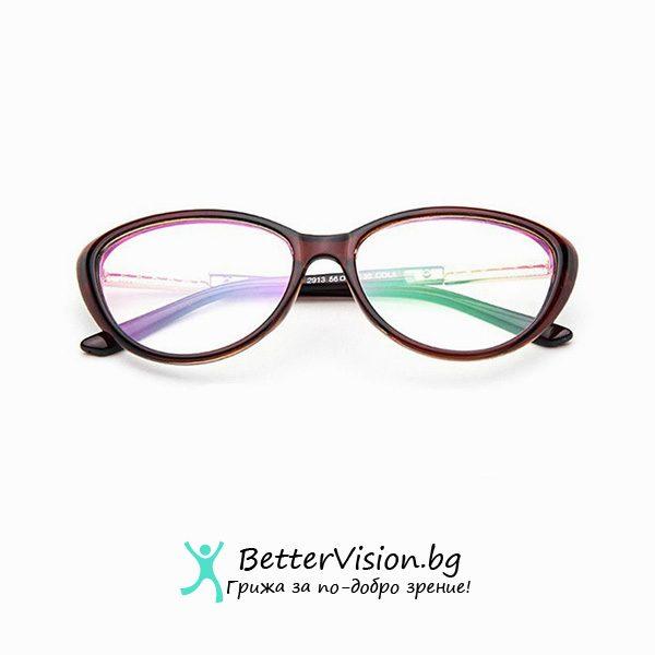 Кафяви очила котешко око за компютър