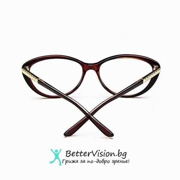 Очила за компютър котешко око кафяви