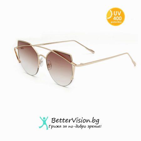 Слънчеви очила Cat Eye - Brown Trendy