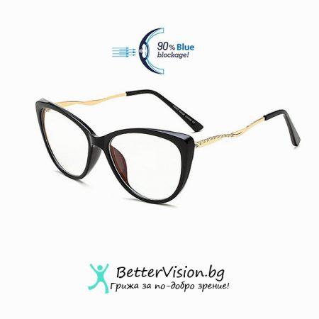Очила за компютър Cat Eye - Glamour Black