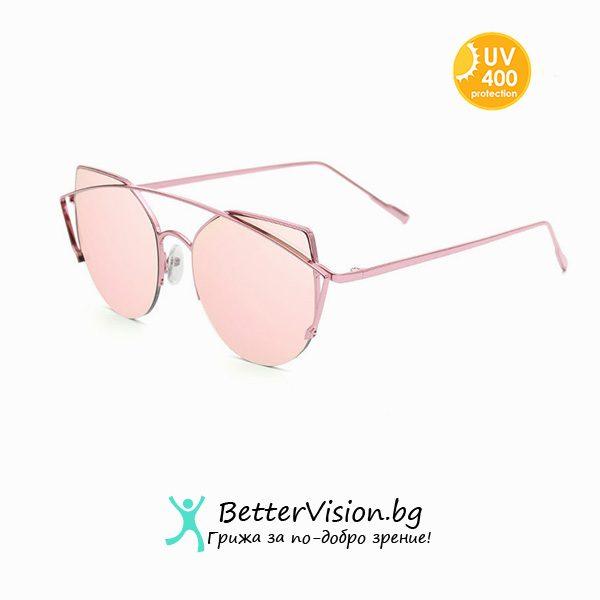 Слънчеви очила Cat Eye - Pink Gold