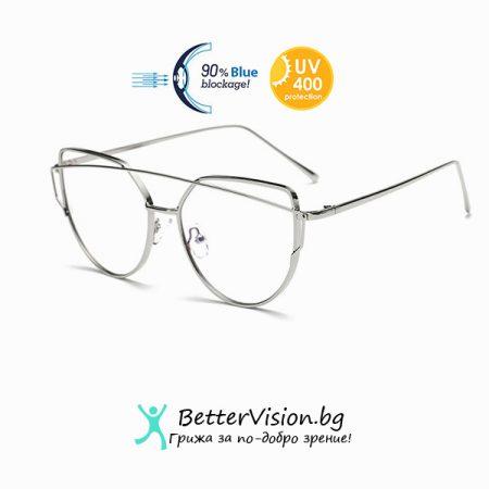 Очила за компютър Cat Eye - Silver