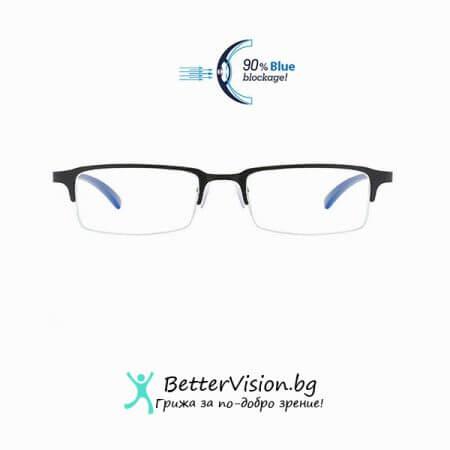 Бизнес Очила за компютър - Half Frame - Black