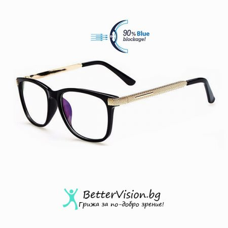 Очила за компютър Fashion Charm Черен гланц