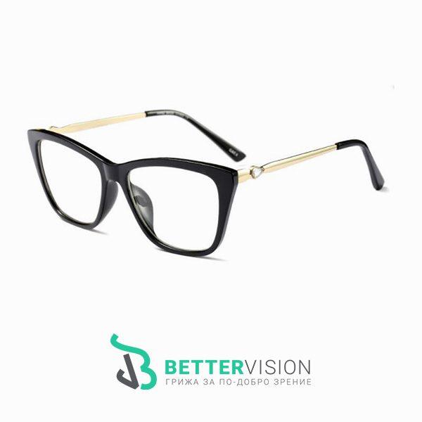 Очила за компютър Cat Eye - Diamond Heart с Anti Blue Light защита