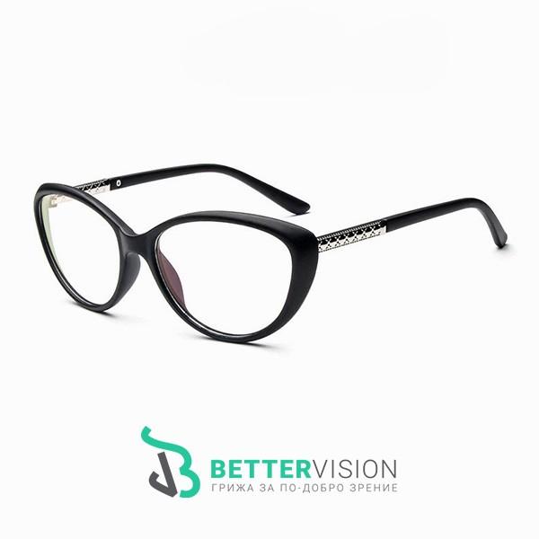 Рамки за очила котешко око черен мат