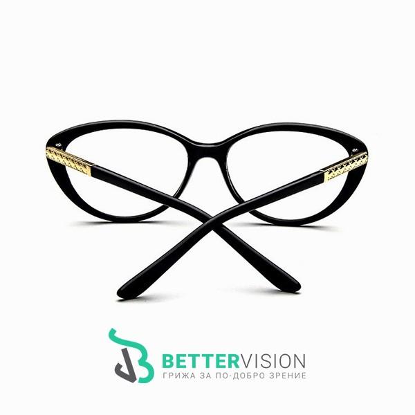 Рамки за очила котешко око черен гланц