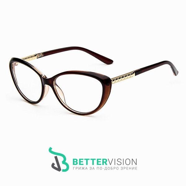 Рамки за очила котешко око кафят гланц