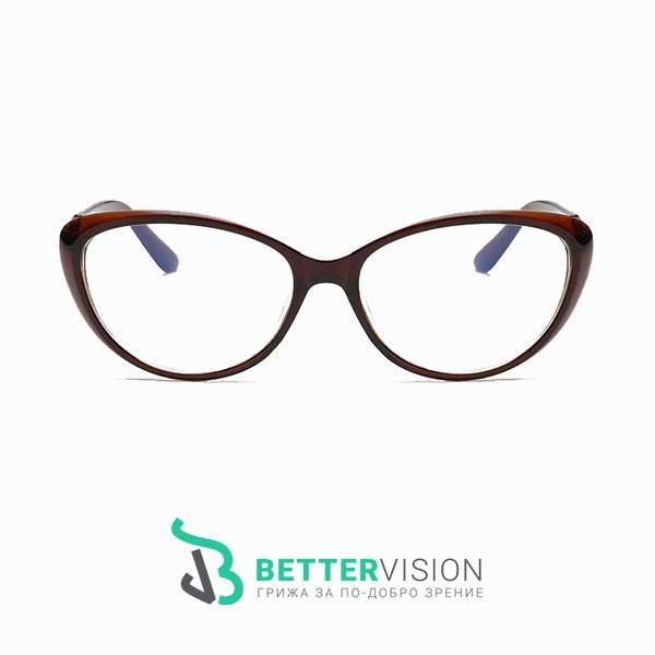 Рамки за очила котешко око кафяв гланц