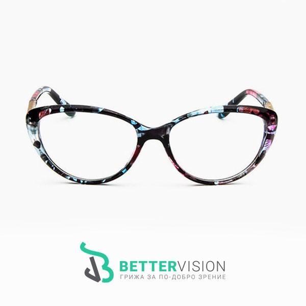 Рамки за очила котешко око флорални мотиви