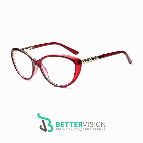 Рамки за очила котешко око червен гланц