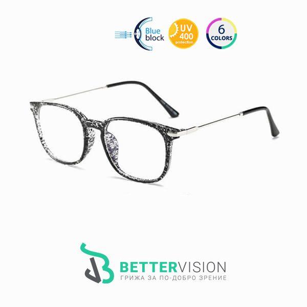 Очила за компютър Supremacy - Черен флорал