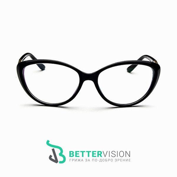 Дамски очила за компютър котешко око - черен гланц