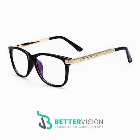 Очила за компютър Fashion Charm - Черен гланц и златно