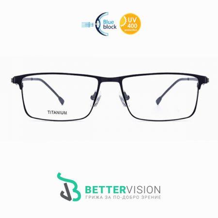 Бизнес титаниеви очила за компютър с UV и Blue Light защита