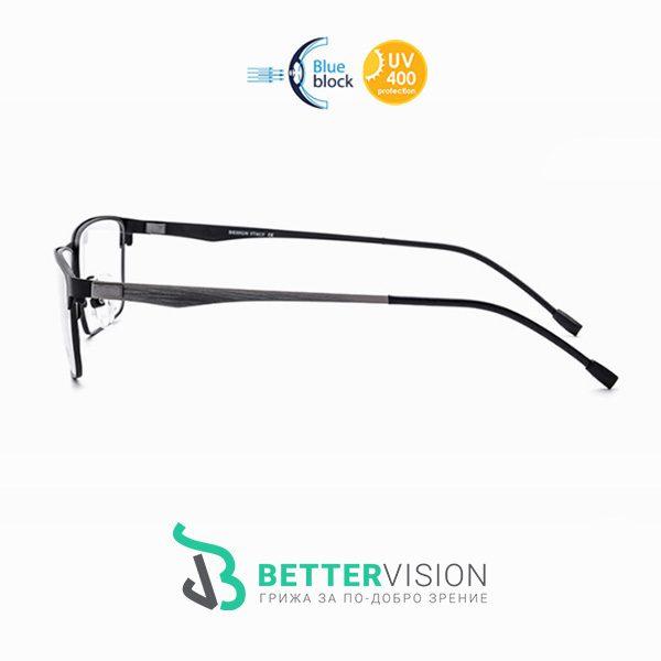 Бизнес титаниеви очила за компютър със стъкла BetterVision