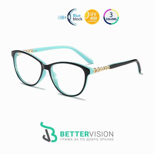 Очила за компютър Mint Черно и ментово
